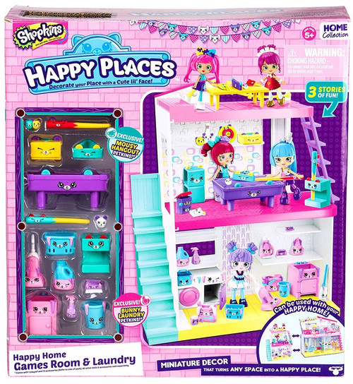 Shopkins Happy Places Happy Home Games Room & Laundry Playset