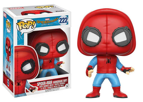 Funko Spider-Man: Homecoming POP! Marvel Spider-Man Vinyl Bobble Head #222 [Homemade Suit]