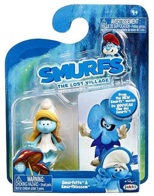 The Smurfs The Lost Village Smurfette & Smurfblossom 2.75-Inch Figure 2-Pack