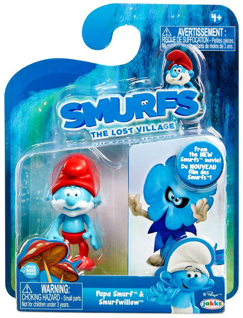 The Smurfs The Lost Village Papa Smurf & Smurfwillow 2.75-Inch Figure 2-Pack