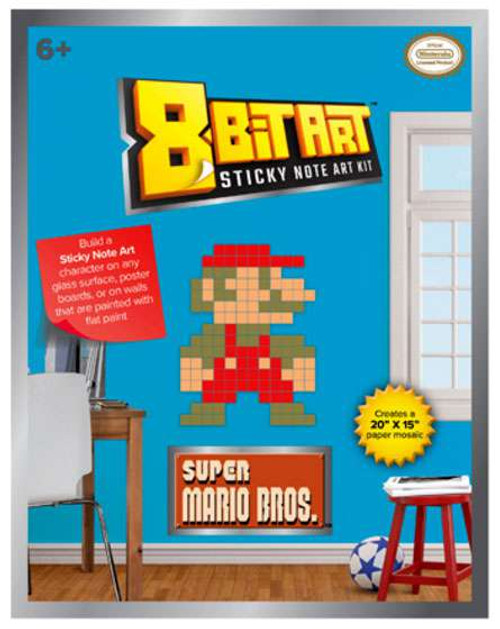 "8-Bit Art 20"" x 15"" Mario Sticky Note Art Kit [Standing]"