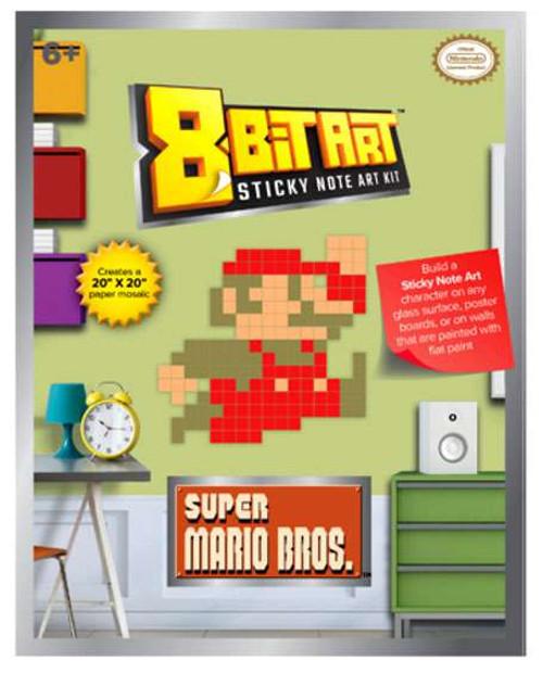 "8-Bit Art 20"" x 20"" Mario Sticky Note Art Kit [Jumping]"