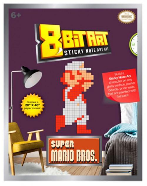 "8-Bit Art 20"" x 40"" Fire Mario Sticky Note Art Kit"