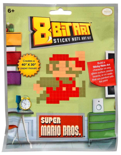 "8-Bit Art 40"" x 30"" Mario Sticky Note Art Kit [Jumping]"