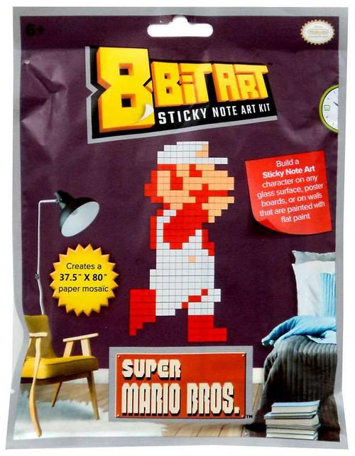 "8-Bit Art 37.5"" x 80"" Fire Mario Sticky Note Art Kit"