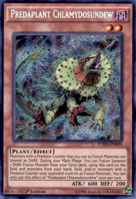 YuGiOh Fusion Enforcers Secret Rare Predaplant Chlamydosundew FUEN-EN005