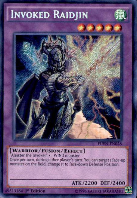 YuGiOh Fusion Enforcers Secret Rare Invoked Raidjin FUEN-EN028