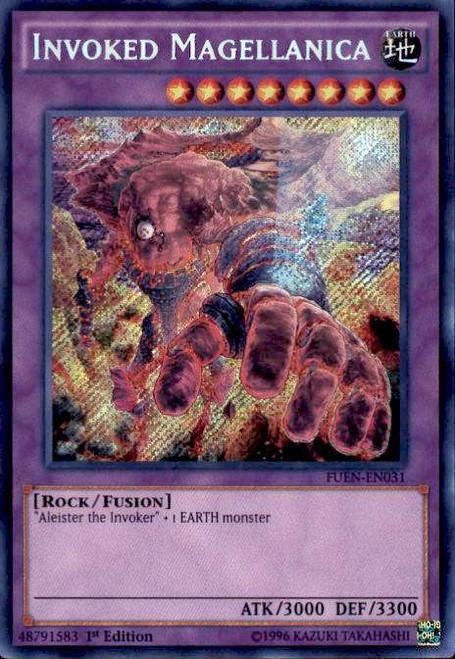 YuGiOh Fusion Enforcers Secret Rare Invoked Magellanica FUEN-EN031