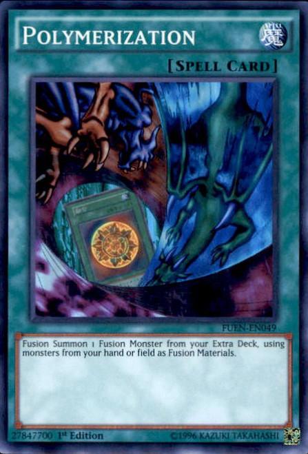 YuGiOh Fusion Enforcers Super Rare Polymerization FUEN-EN049