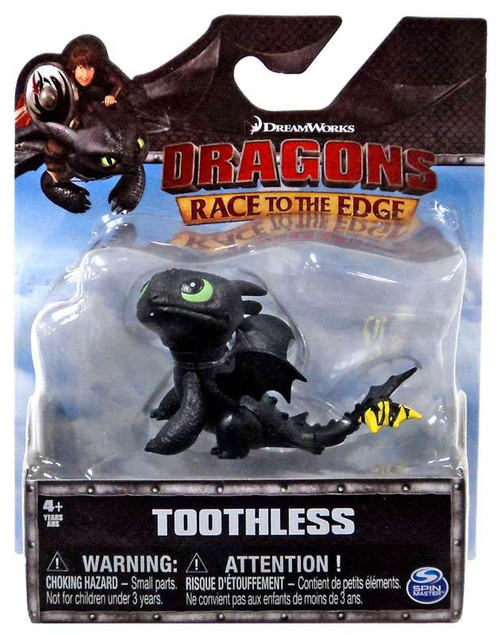 How to Train Your Dragon Race to the Edge Toothless 3-Inch Mini Figure [Yellow Tail]