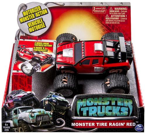 Monster Trucks Monster Tire Ragin' Red Vehicle