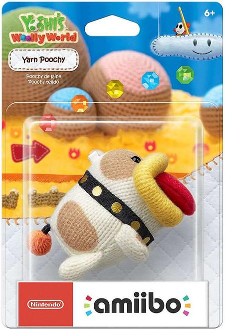 Nintendo Yoshi's Woolly World Amiibo Yarn Poochy Mini Figure