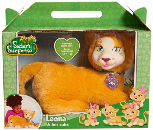 Safari Surprise Leona & Her Cubs Plush Toy