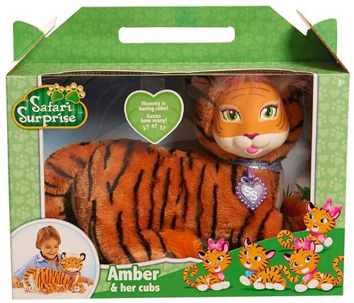 Safari Surprise Amber & Her Cubs Plush Toy