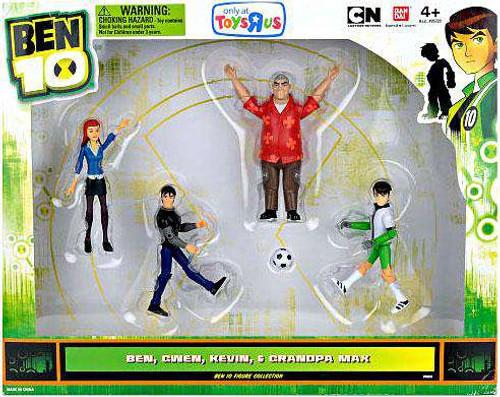 Ben 10 Soccer Ben, Gwen, Kevin & Grandpa Max Exclusive Action Figure 4-Pack [Damaged Package]