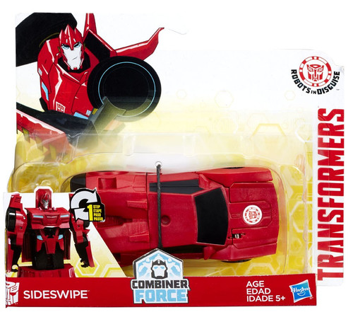 Transformers Robots in Disguise 1 Step Changers Sideswipe (Red) Action Figure [Combiner Force]