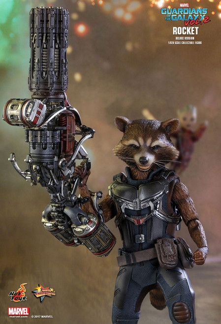 Marvel Guardians of the Galaxy Vol. 2 Movie Masterpiece Rocket Collectible Figure [Deluxe Version]