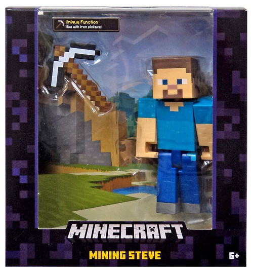 Minecraft Survival Mode Mining Steve Action Figure [Iron Pickaxe]