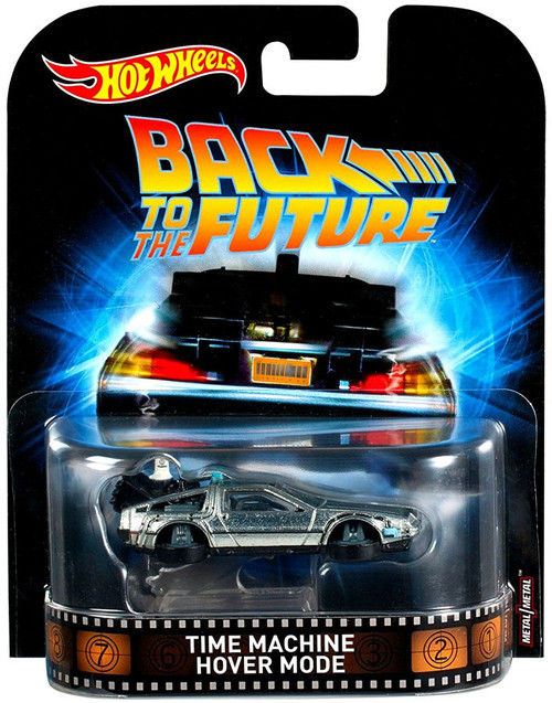 Hot Wheels Back to the Future HW Retro Entertainment Time Machine Hover Mode Diecast Car