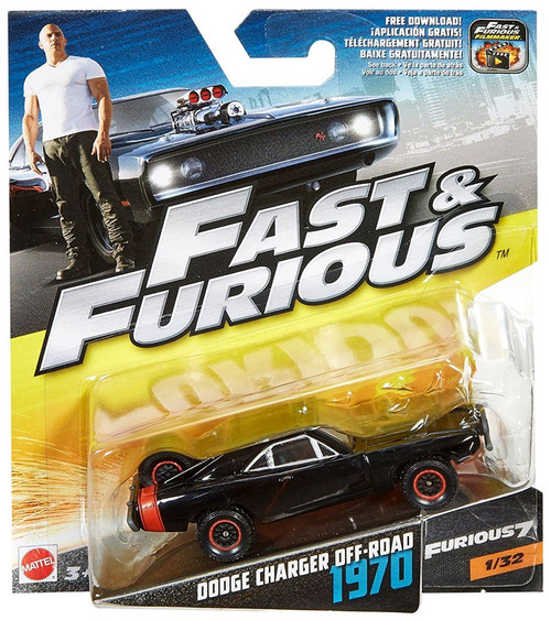 The Fast and the Furious Furious 7 Dodge Charger Off-Road 1970 Diecast Car #1/32