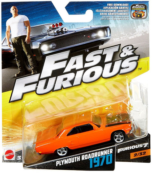 The Fast and the Furious Furious 7 Plymouth Roadrunner 1970 Diecast Car #2/32
