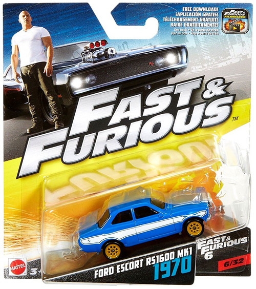 The Fast and the Furious Fast & Furious 6 Ford Escort RS1600 MK1 1970 Diecast Car #6/32