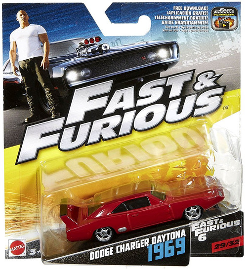 The Fast and the Furious Fast & Furious 6 Dodge Charger Daytona 1969 Diecast Car #29/32