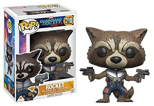 Funko Guardians of the Galaxy Vol. 2 POP! Marvel Rocket Exclusive Vinyl Bobble Head #210 [No Flames]