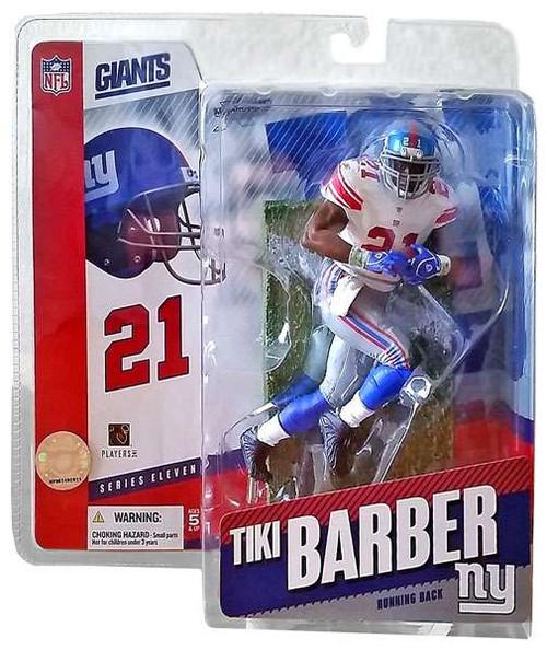McFarlane Toys NFL New York Giants Sports Picks Series 11 Tiki Barber Action Figure [White Jersey Variant, Damaged Package]