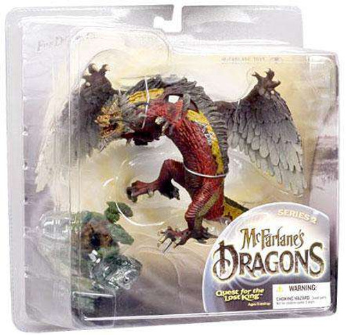 McFarlane Toys Dragons Quest for the Lost King Series 2 Fire Clan Dragon 2 Action Figure [Damaged Package]