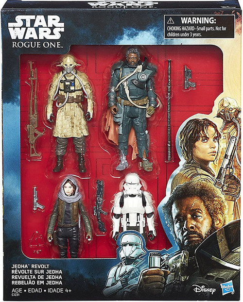 Star Wars Rogue One Jedha Revolt Action Figure 4-Pack [Jyn Erso, Imperial Hovertank Pilot, Two Tubes & Saw Guerrera]