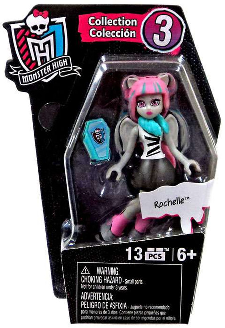 Monster High Mega Bloks Ghouls Skullection Series 3 Rochelle Mini Figure