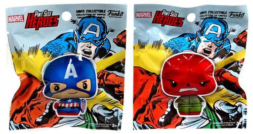 Funko Marvel Pint Size Heroes Captain America & Red Skull Exclusive Vinyl Figure 2-Pack [Superhero Showdown]