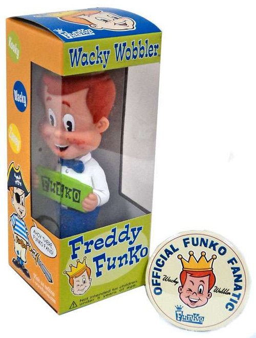 Wacky Wobbler Freddy Funko Exclusive Bobble Head [with Funko Fanatic Button]