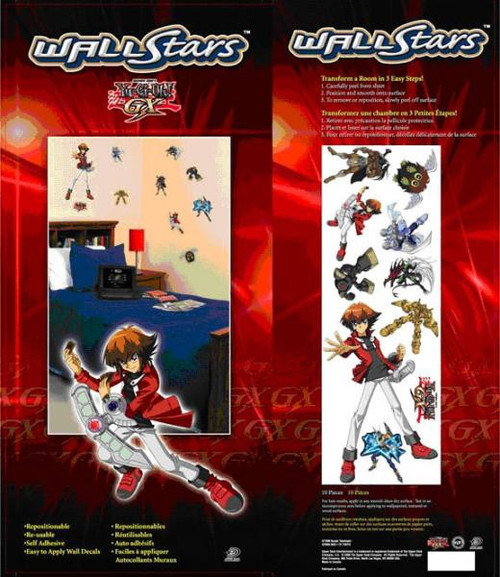 YuGiOh GX Trading Card Game GX Wall Stars Pack of 10 Wall Decals