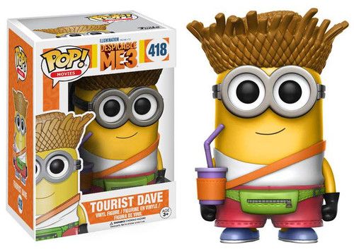 Funko Despicable Me 3 POP! Movies Tourist Dave Vinyl Figure #418