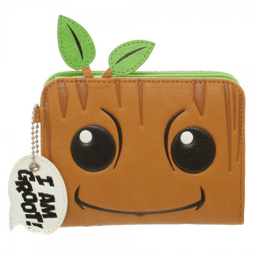 Marvel Guardians of the Galaxy Groot Zip Wallet Apparel