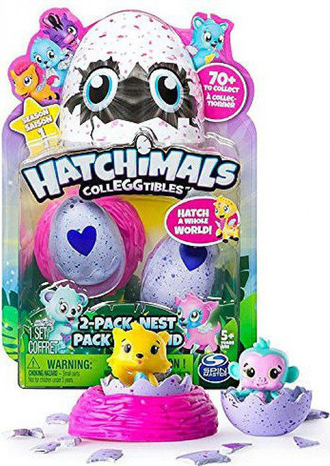 Hatchimals Colleggtibles Season 1 Mystery 2-Pack + Nest