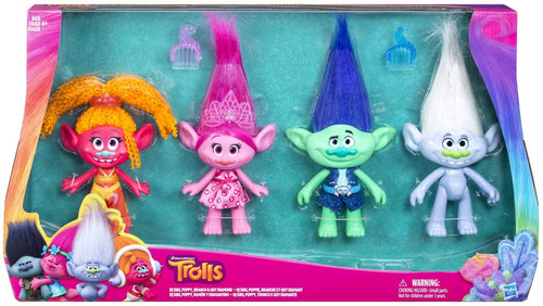 Trolls True Colors Collection Exclusive Figure 4-Pack