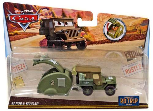 Disney / Pixar Cars RD TR1P Sarge & Trailer Diecast Car [Road Trip]