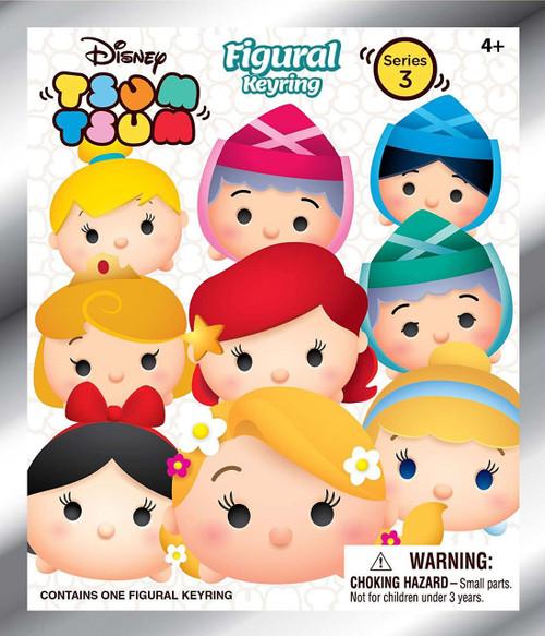 Disney 3D Figural Keyring Tsum Tsum Series 3 Mystery Pack [1 RANDOM Figure]