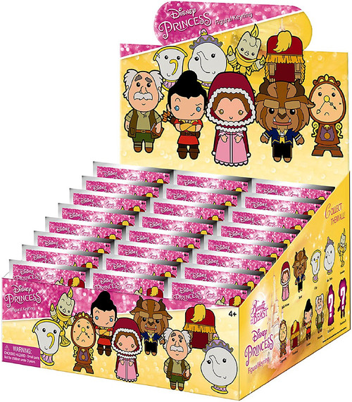 Disney 3D Figural Keyring Beauty & The Beast Mystery Box [24 Packs]