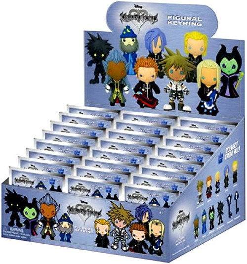 Disney 3D Figural Keyring Kingdom Hearts Series 2 Mystery Box [24 Packs]