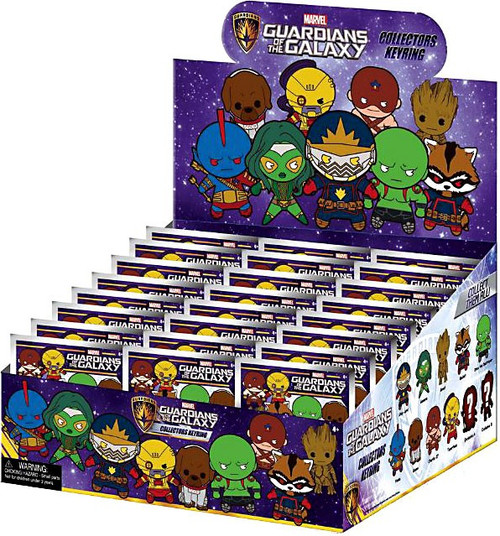 Marvel 3D Figural Keyring Guardians of the Galaxy Mystery Box [24 packs]