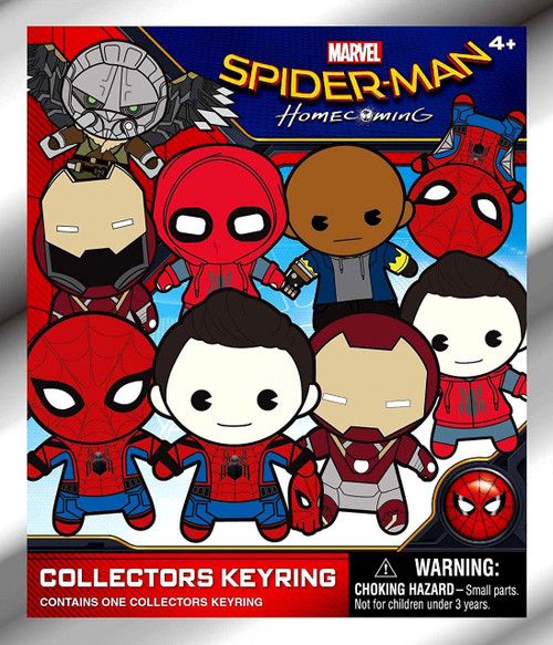 Marvel 3D Figural Keyring Spider-Man Movie Mystery Pack [1 RANDOM Figure]