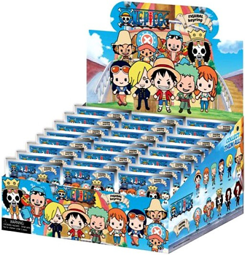 3D Figural Keyring One Piece Mystery Box [24 Packs]