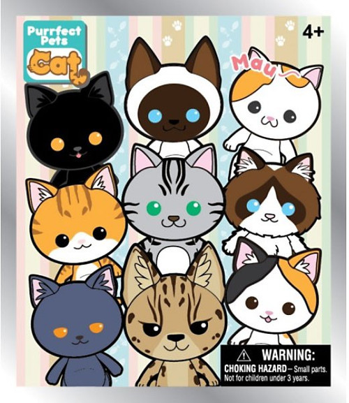 Purrfect Pets 3D Figural Keyring Cat Mystery Box [24 Packs]