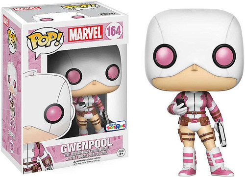 Funko POP! Marvel GwenPool Exclusive Vinyl Bobble Head #164 [Holding Gun & Phone]