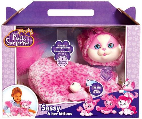 Kitty Surprise Sassy & Her Kittens Plush Toy