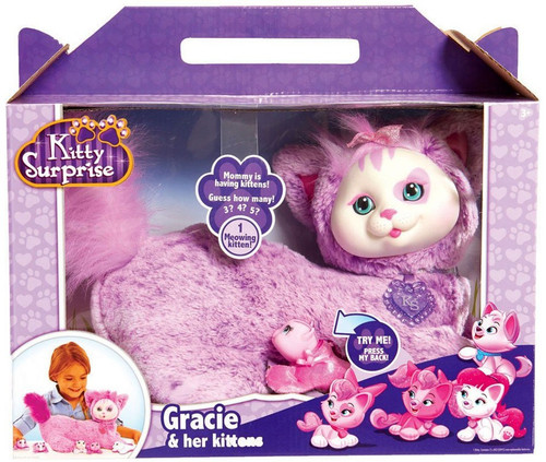 Kitty Surprise Gracie & Her Kittens Plush Toy